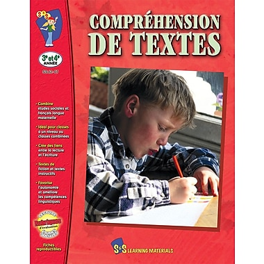 Reading Comprehension, Grades 3-4 (French Book)