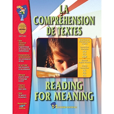 La comprehension de texts/Reading for Meaning - A Bilingual Skill Building Workbook, Grades 1-3