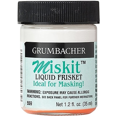 Chartpak Grumbacher Miskit Liquid Frisket for Watercolor, #559, 1.2 oz.