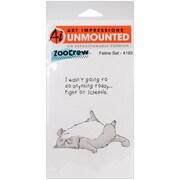 "Art Impressions 8"" x 4"" Zoo Crew Cling Rubber Stamp, Feline Set"