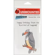 "Art Impressions 8"" x 4"" Zoo Crew Cling Stamp, Buzzard Set"