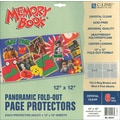 C-Line Memory Book Panoramic Fold - Out Page Protector, 12in. x 12in., Clear