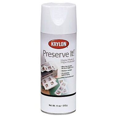 Krylon 7026 Clear Gloss Preserve-It Digital Photo and Paper Protectant Aerosol Spray, 11 oz.