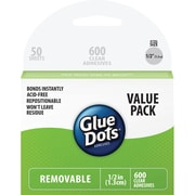 "Glue Dots® 1/2"" Removable Dot Sheets School Value Pack, 600/Pack"