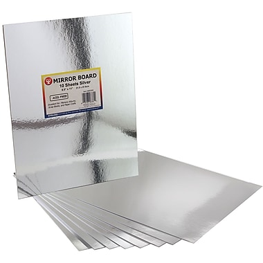 Hygloss 8 1/2in. x 11in. Mirror Board, Silver, 10/Pack