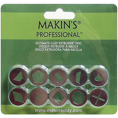 Makin's® Professional™ Ultimate Clay With Extruder Discs, Set A, 10/Pack
