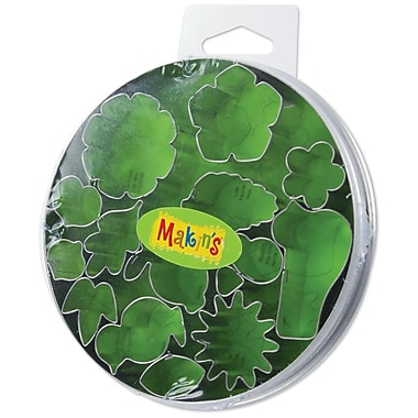 Makin's® Metal Clay Cutters Flower and Leaf, 15/Pack