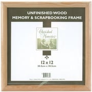 "Darice® 12"" x 12"" Memory Frame, Unfinished Wood"