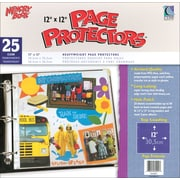 "C-Line Memory Book Top - Load Page Protectors, 12"" x 12"", Clear"