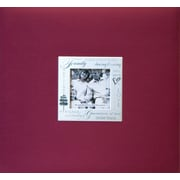 MBI Expressions Postbound Album With Window, 8 x 8, Family Burgundy