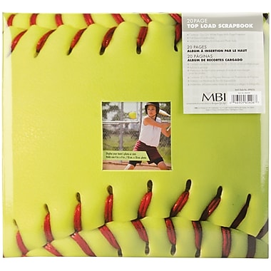 MBI Sport & Hobby Postbound Album, 12in. x 12in., Fast Pitch