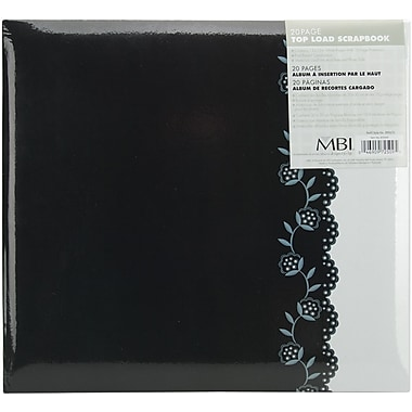MBI Postbound Album, 12in. x 12in., Black/White