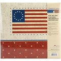 MBI American Flag Postbound Album, 12in. x 12in., Red/Blue/White