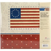 "MBI American Flag Postbound Album, 12"" x 12"", Red/Blue/White"
