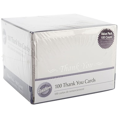 Wilton® 3 1/2in. x 5in. Thank You Cards, 100/Pack