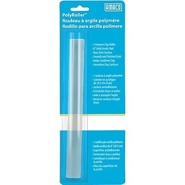 Amaco 11058T Clear Polymer Roller, 8