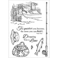 Stampers Anonymous 6in. x 4in. Inky Antics Clear Stamp Set, Fishing Favorites
