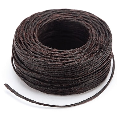 Tandy Leather Factory™ 11207-03 Brown Linen Waxed Thread, 25 yd.