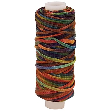 Leather Factory™ 25 yds. Waxed Metallic Look Braided Cord, Multicolor
