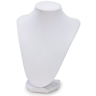 Darice® 9in. 3D Velvet Necklace Stand, White