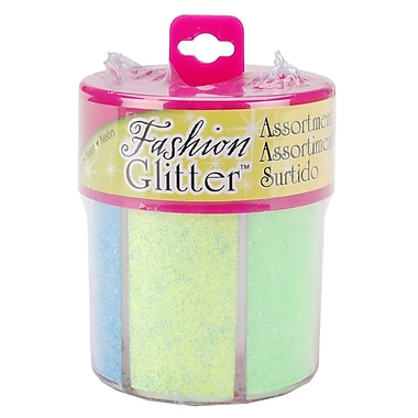 I Love To Create® Neon Tulip Fashion Glitter Shaker, 6/Pack, Assorted