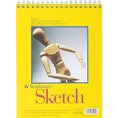 Pro-Art® Strathmore Spiral Sketch Book, 9in. x 12in.