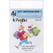 "Art Impressions 6"" x 4"" People Cling Stamp, Cropper Set"