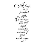 "Penny Black® 2"" x 3 3/4"" Rubber Stamp, Perfect Gift"