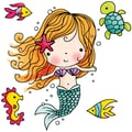 Penny Black® 3 1/2in. x 3 1/2in. Black Rubber Stamp, Mimi The Mermaid