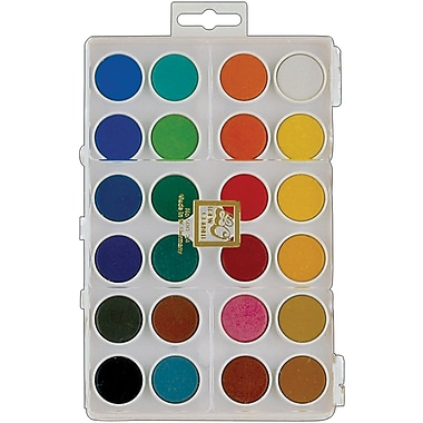 Loew-Cornell® Dry Pan Watercolor Paint Cakes, Assorted, 24/Pack