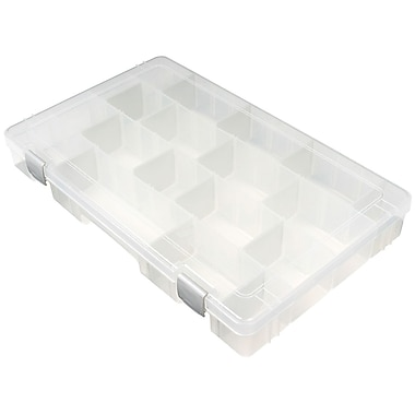 ArtBin® TI® Large 4 Compartment Solutions Box, Translucent