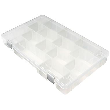 ArtBin® TI® Large 4 Compartment Solutions Box, Translucent