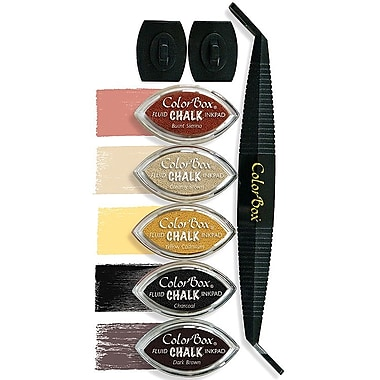 Clearsnap® ColorBox® 10in. x 3 1/4in. x 1in. Fluid Chalk Cat's Eye® Stylus Set, Antiquing