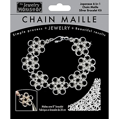 Midwest Products 8in. Chain Maille Japanese 6-in-1 Bracelet Jewelry Kit, Silver