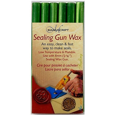 Manuscript Pen Sealing Gun Wax Sticks, Leaf Green, 6/Pack