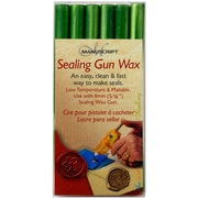 Manuscript Pen Sealing Gun Wax Sticks, Leaf Green, 6/Pack