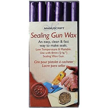 Manuscript Pen Sealing Gun Wax Sticks, Purple, 6/Pack