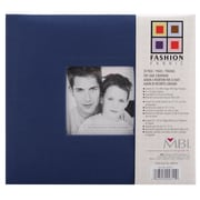 MBI Fashion Fabric Cover Postbound Album With Window, 8 x 8, Blue