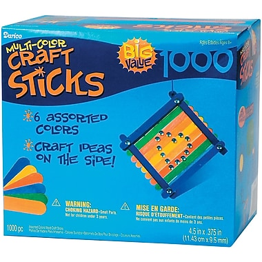 Darice® 4 1/2in. Wood Jumbo Craft Sticks, 1000 Pieces