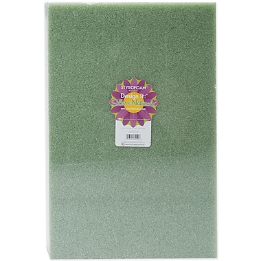 Floracraft B18122GS Green Styrofoam Block, 18