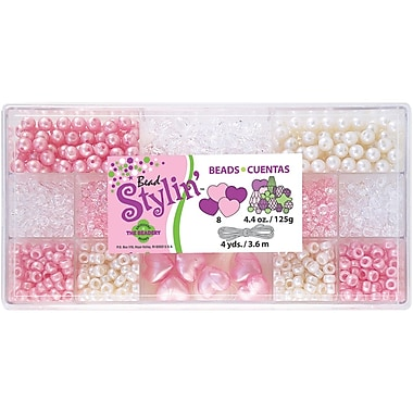 Beadery® Bead Stylin' Bead Box Kit, Bubblegum, 4.4Oz./Pack