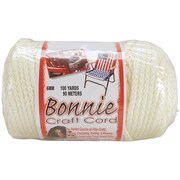 Pepperell BB6-BB6-100-002 Ivory Bonnie Macrame Craft Cord, 100 yd.