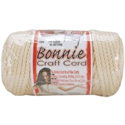 Pepperell BB6-100-003 Flesh/Cream Bonnie Macrame Craft Cord, 100 yd.