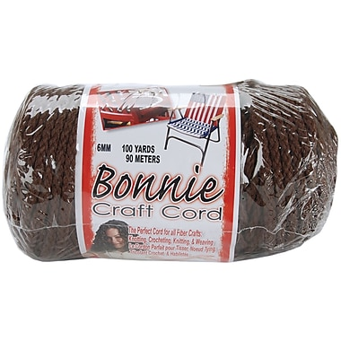 Pepperell BB6-100-009 Brown Bonnie Macrame Craft Cord, 100 yd.