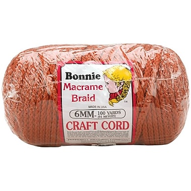 Pepperell BB6-100-022 Rust Bonnie Macrame Craft Cord, 100 yd.
