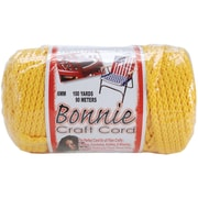 Pepperell BB6-100-025 Sunshine Yellow Bonnie Macrame Craft Cord, 100 yd.