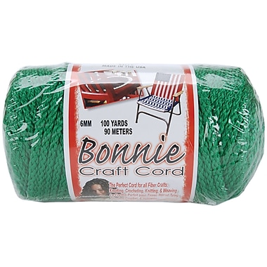 Pepperell BB6-100-029 Kelly Bonnie Macrame Craft Cord, 100 yd.