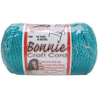 Pepperell BB6-100-033 Turquoise Bonnie Macrame Craft Cord, 100 yd.