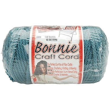 Pepperell BB6-100-034 Denim Bonnie Macrame Craft Cord, 100 yd.
