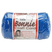 Pepperell BB6-100-037 Royal Blue Bonnie Macrame Craft Cord, 100 yd.